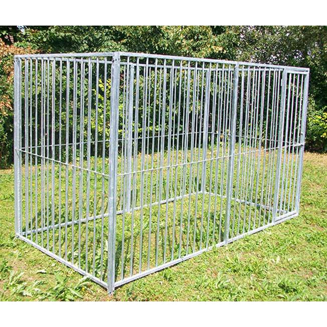 4 Sided Galvanised Dog Pens - No Roof (5cm Bars)- Prestige Range
