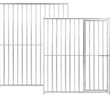 Galvanised Dog Run Panels - 8cm Bar Spacings - Prestige Range