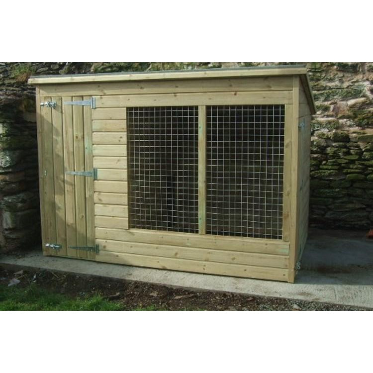 Astonia 10ft x 4ft Dog Kennel - Fitted