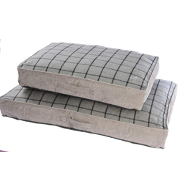 Gor Pets Camden Sleeper Dog Bed - GREY CHECK