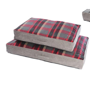 Gor Pets Camden Sleeper Dog Bed - RED CHECK