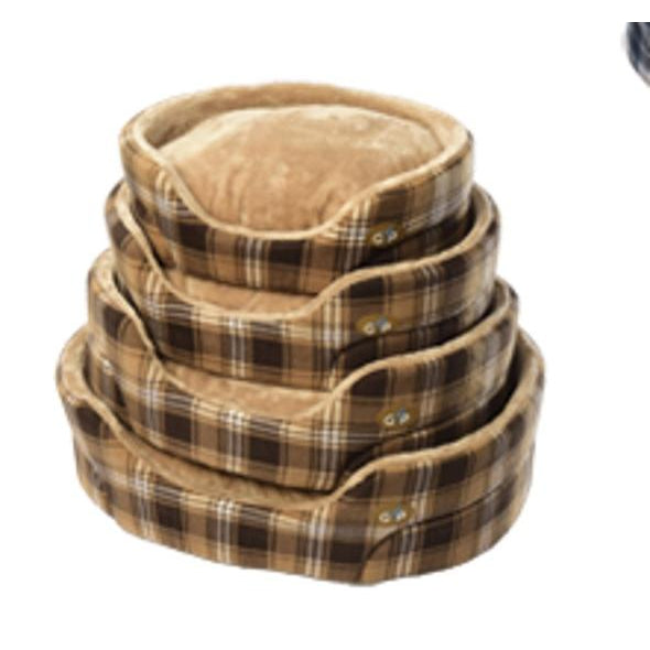 Gor Pets Essence Dog Bed - BROWN CHECK