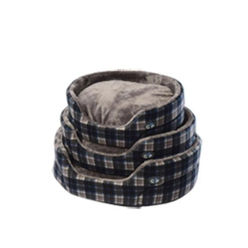 Gor Pets Essence Dog Bed - GREY CHECK