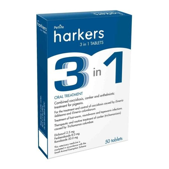 Harkers 3 in 1 tablet for Pigeons