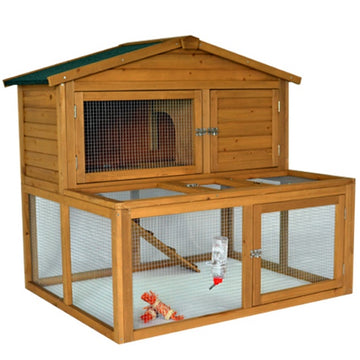 Rabbit Guineas Pig Hutch with Under Run - BLOSSOM