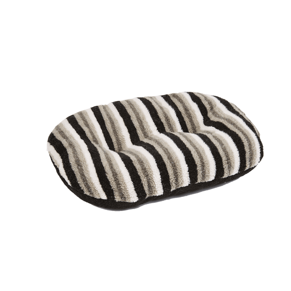 Gor Pets Monza Oval Pet Cushion - Black Stripes