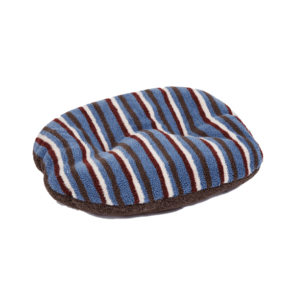 Gor Pets Monza Oval Pet Cushion - Brown Stripes