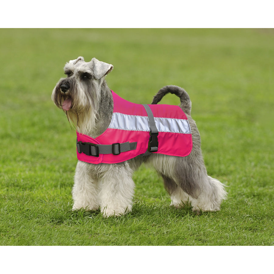 Dog Jacket Flecta High Vis Water Resistant - 4 Colours 11 Sizes