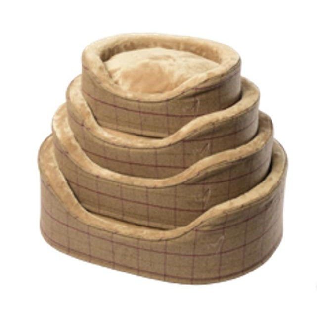 Gor Pets Premium Dog Bed - BEIGE CHECK