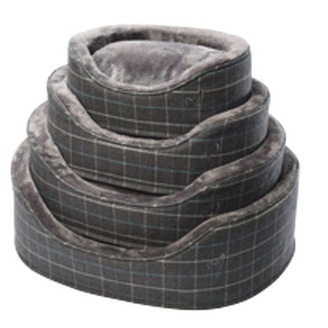 Gor Pets Premium Dog Bed - GREY CHECK