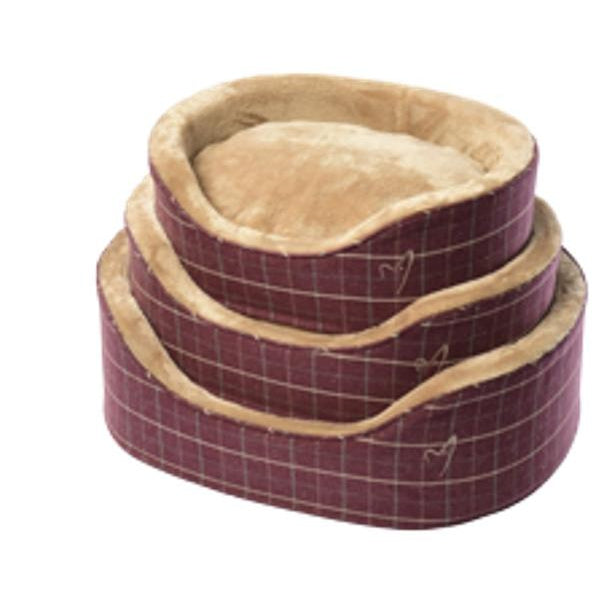 Gor Pets Premium Dog Bed - WINE CHECK
