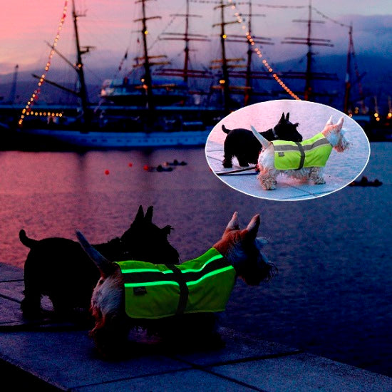Vizlite 3 in 1 High Visibility Waterproof Insulated  Dog Jacket