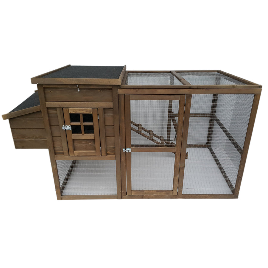 Wooden 6' Freestanding Catio - Cat Kennel