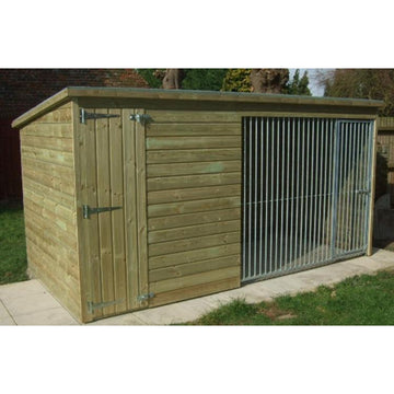 Chesterton 8ft x 4ft Dog Kennel - Fitted