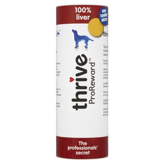 Thrive Pro Reward Beef Liver Treats for Dogs - Maxi Tube - 500g
