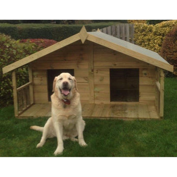 Abingdon Double Tanalised Dog Kennel with Verandah