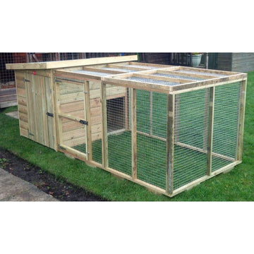 Byland Tanalised Pent Kennel with Front Run