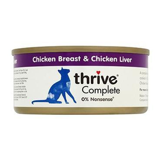Thrive Complete Chicken/ Liver Cat Food 6 x 75g Tins