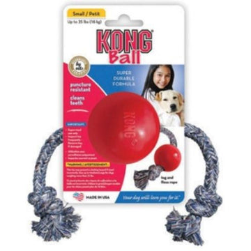 Kong Small Dog Ball with Rope - KGKB21