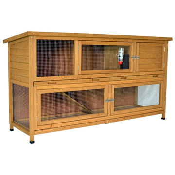 Large Rabbit Guinea Pig Ferret Hutch - LARCH HOUSE