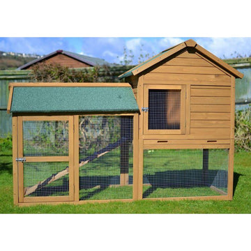 Rabbit Guinea Pig Ferret Hutch - COTTONWOOD