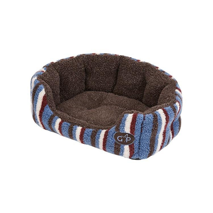 Gor Pets Monza Snuggle Dog Bed - Brown Stripes