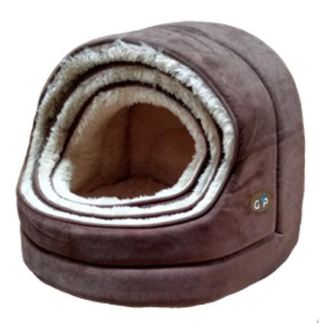 Gor Pets Nordic Hooded Pet bed - BROWN