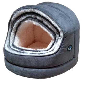 Gor Pets Nordic Hooded Pet bed - GREY