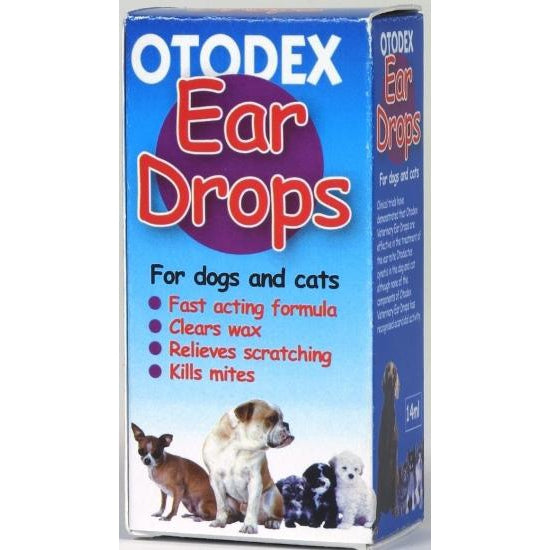 Otodex Ear Drops for Dogs & Cats - 14ml