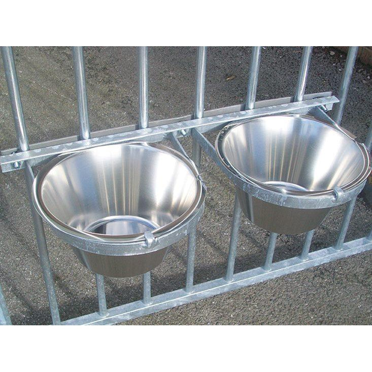 Stainless Steel Double Bolt-On Dog Bowl - Prestige Range