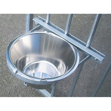 Galvanised Single Bolt-On Dog Bowl - Prestige Range