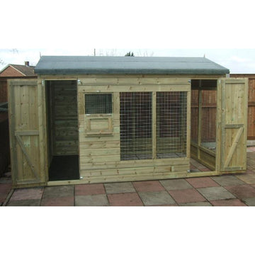Winston 8ft x 4ft Dog Kennel - Fitted