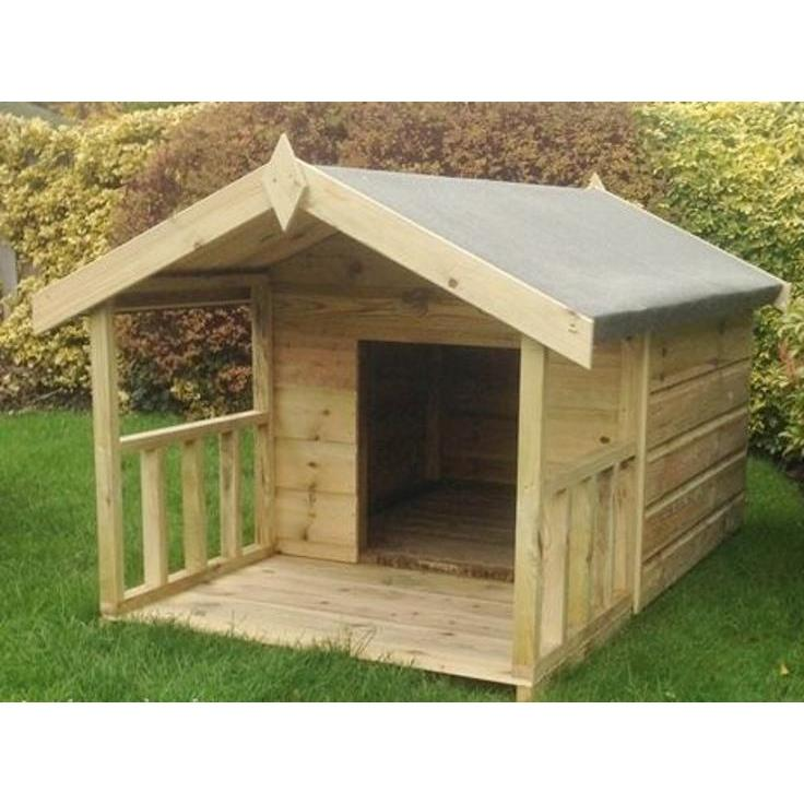 Abingdon Tanalised Dog Kennel with Verandah