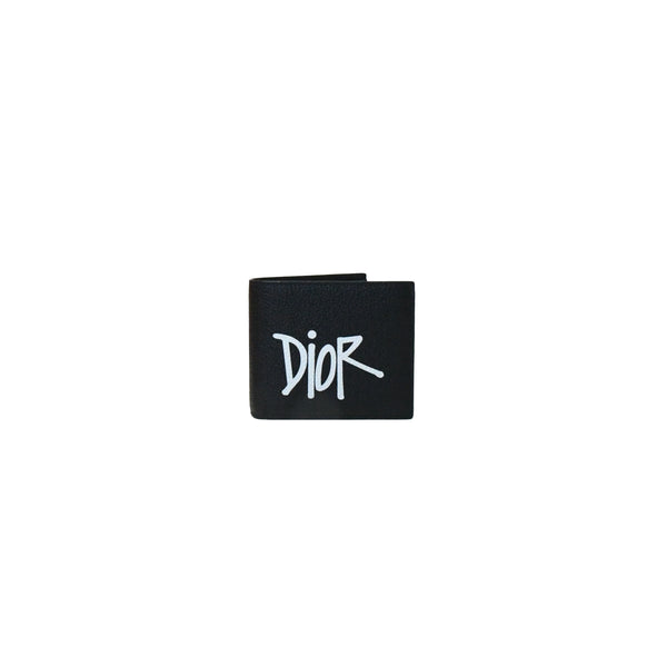 Dior x Shawn Logo Wallet with Pouch Black