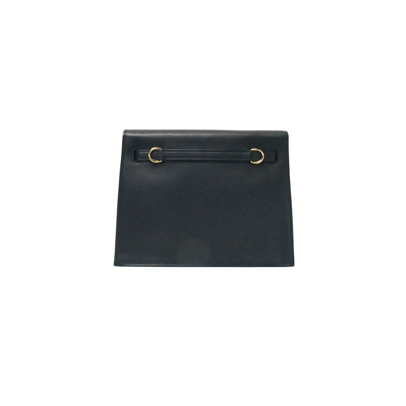Hermes Kelly Dense Swift Gold HW Black