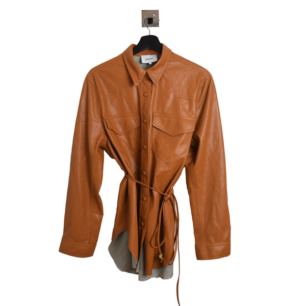 Nanushka Leather Shirt Caramel