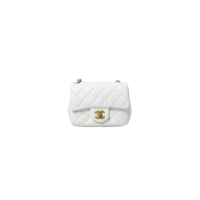Chanel Small Square Flap Bag White