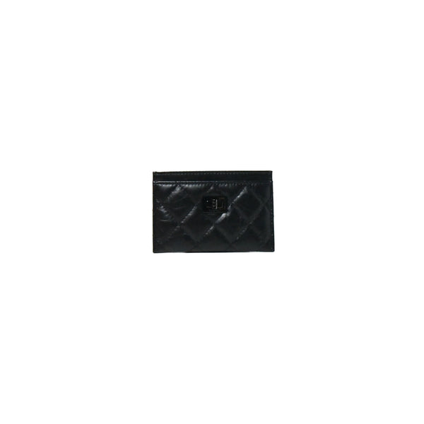 Chanel 2.55 Card Case Black