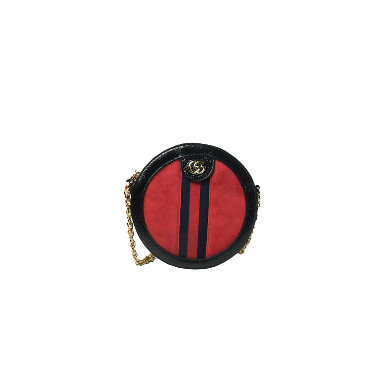 Gucci Round Bag Black Red