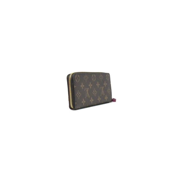 Louis Vuitton Clemence Long Wallet with Zip Fuchsia
