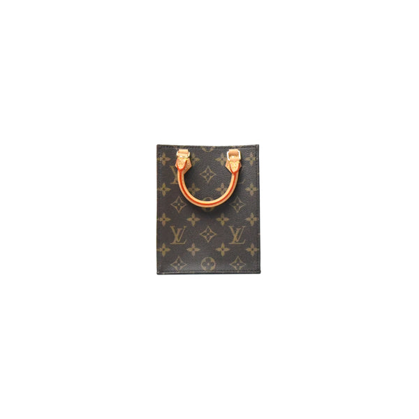 Louis Vuitton Petit Sac Plat Bag Monogram Brown