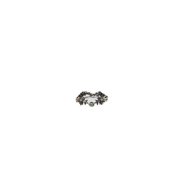 Chrome Hearts Tiny E CH Plus 4 Link Ring Silver