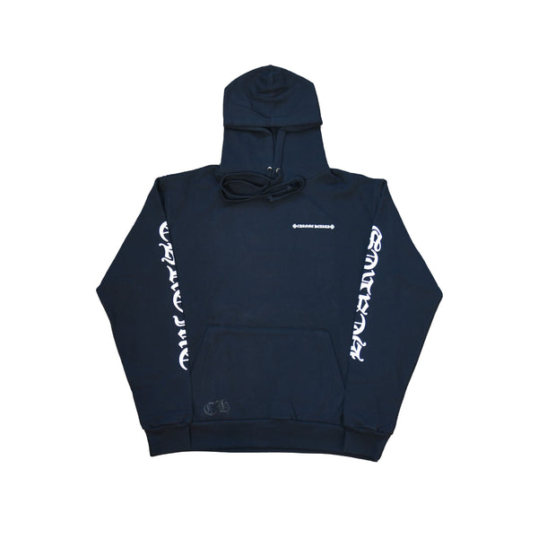 Cemetery Cross Tire Tracks Hoodie Black