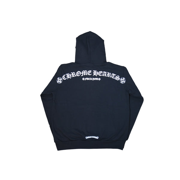 Chrome Hearts Fuck You Shoulder Logo Hoodie Black