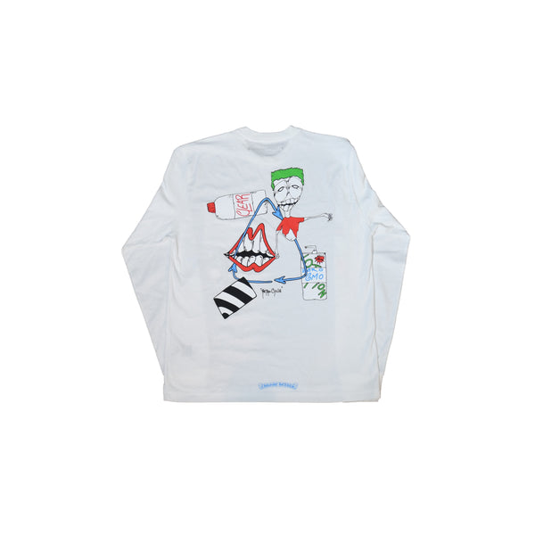 Matty Boy Retro Cycle L/S T-Shirt White