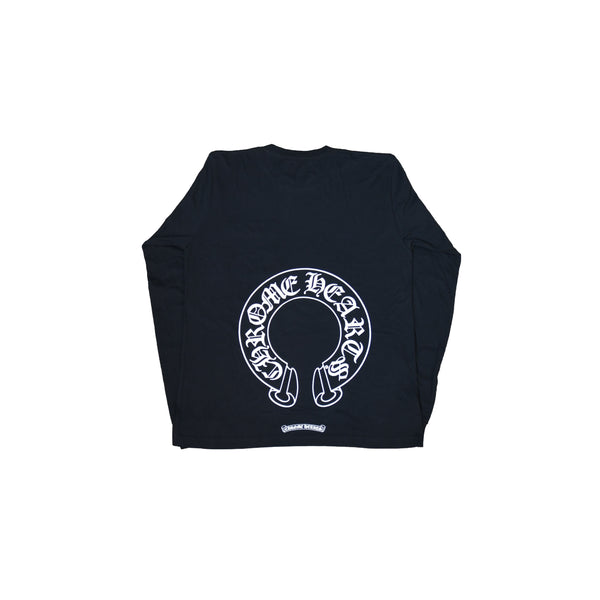 Horse Shoe Floral L/S T-Shirt Black