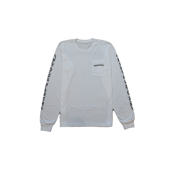 Scroll Logo Chrome Hearts L/S T-Shirt White