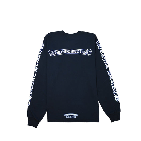 Scroll Logo Chrome Hearts L/S T-Shirt Black
