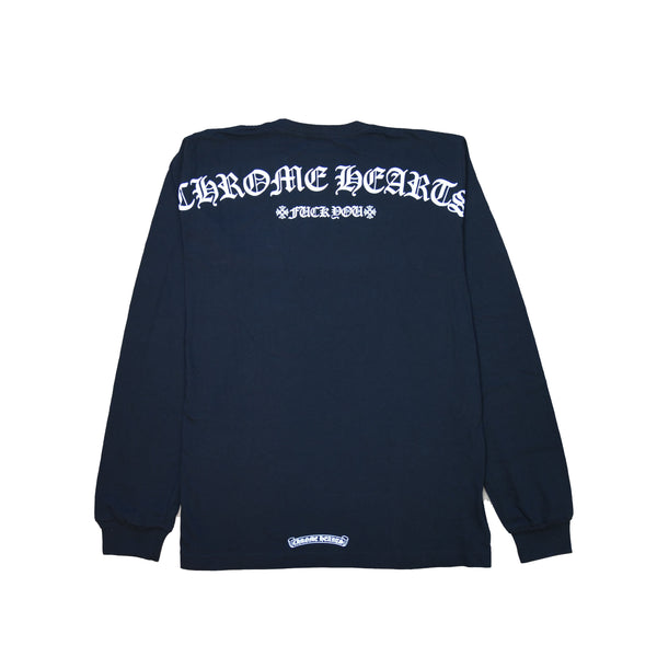 Chrome Hearts Fuck You Shoulder Logo L/S T-Shirt Black