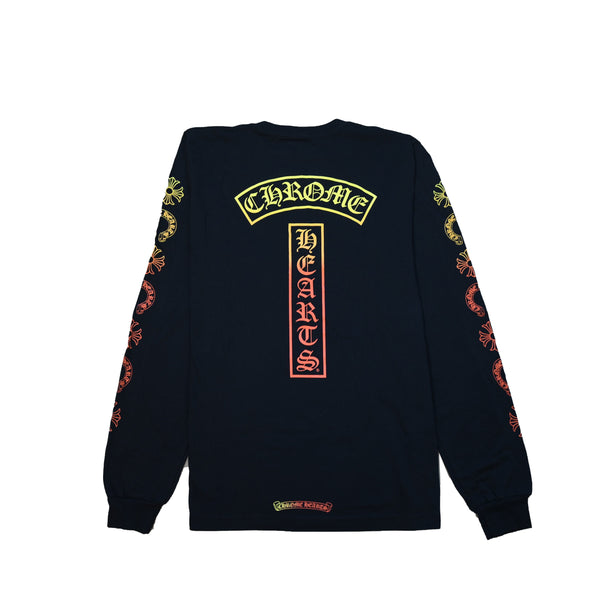 Gradient Logo L/S T-Shirt Black Yellow Orange